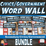 WORD WALL Posters BUNDLE Posters(CIVICS) (Grades 8-12)