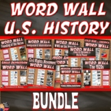 WORD WALL Posters BUNDLE (U.S. History) - Grades 8-12