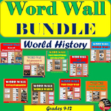 WORD WALL Posters BUNDLE  | World History | Grades 8-12 | Classroom Decor