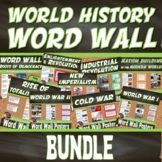 WORD WALL Posters BUNDLE Posters (World History) (Grades 8-12)