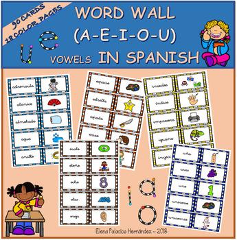 WORD WALL VOCALS in Spanish / MURO DE PALABRAS- vocales