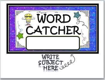 """WORD WALL """"WORD CATCHER"""": GREAT FOR VOCABULARY ACCESS (POSTER SIZE)"""