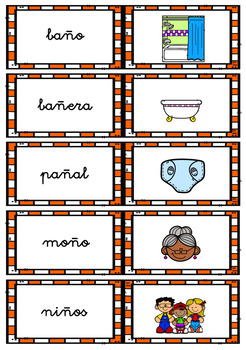 WORD WALL (consonants) in Spanish / MURO DE PALABRAS- consonantes (K-Q)
