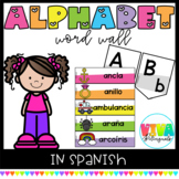 SPANISH ALPHABET WORD WALL (Headers & Editable Word Wall Cards)