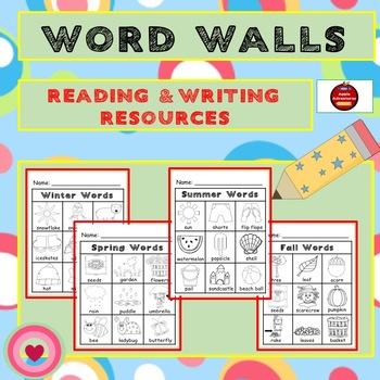 WORD WALLS - SEASONAL AND HOLIDAY