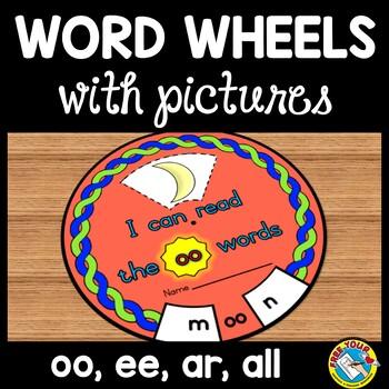 PHONICS WORD WHEELS: PHONIC SOUNDS PRACTICE: LITERACY CENTER