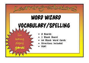 WORD WIZARD Game - vocabulary - word attack - spelling - comprehension
