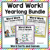 Word Work Bundle | Word Sorts and Games for the Whole Year!