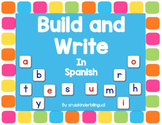 WORD WORK~~ BUILD AND WRITE in Spanish~~
