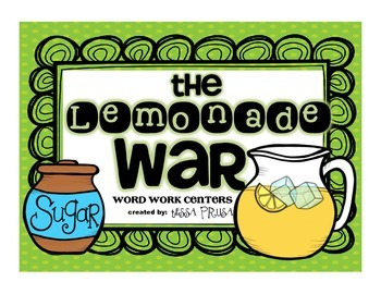 WORD WORK CENTERS: THE LEMONADE WAR
