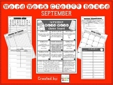 WORD WORK CHOICE BOARD {SEPTEMBER}