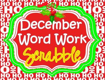 WORD WORK - December Words -               Daily 5