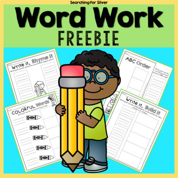 WORD WORK {Freebie}
