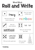 WORD WORK - Roll and Write
