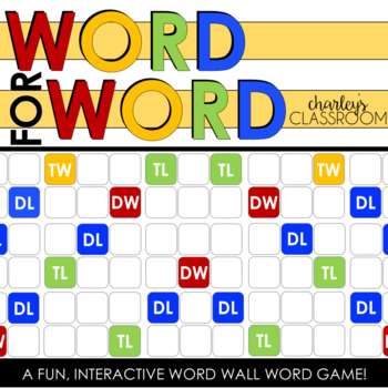 WORD for WORD (basic colors) | Interactive Word Wall Word Game