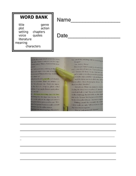 WORDBANK PACKETS for Writing (FREE SAMPLE)