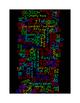 WORDLE ART - NUMBERS 0 THROUGH 120 - VERTICAL - BLACK BACK