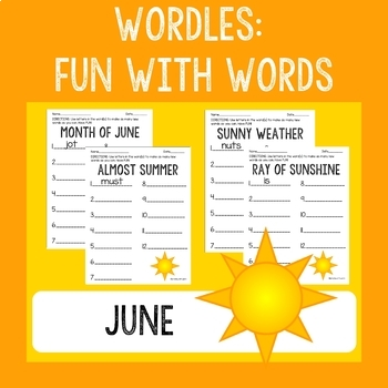 WORDLES: Fun With Words (June)