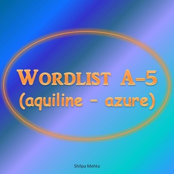WORDLIST A (with sentences)