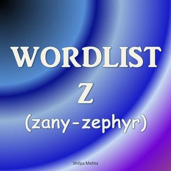 WORDLIST Z (with sentences)