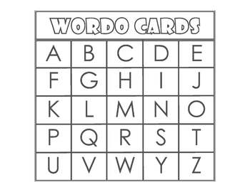 WORDO - ABC Capital Letters