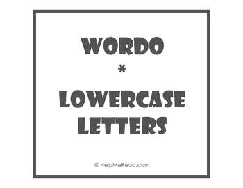 WORDO - ABC Lowercase Letters