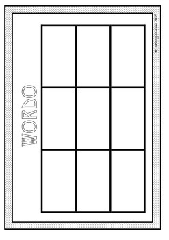 BLANK BOARD GAME - Wordo or Bingo - for Sight Words, Number Facts or Phonics