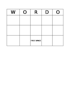 WORDO Board Template