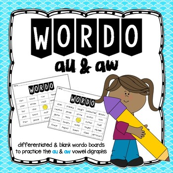 WORDO Game: au & aw vowel digraphs