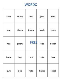 WORDO - Long and Short u (u, u-e, ui, and oo)