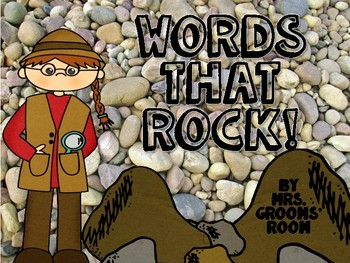 ROCK VOCABULARY WORDS:  WORDS THAT ROCK