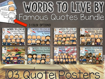WORDS TO LIVE BY Famous Quotes Bundle
