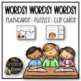 WORDS! WORDS! WORDS!    FLASHCARDS, CLIP CARDS. AND PUZZLES