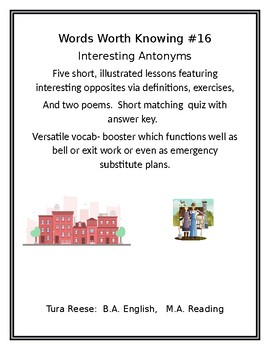 WORDS WORTH KNOWING #16: Important Antonyms