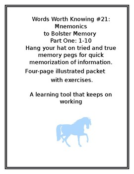 WORDS WORTH KNOWING #21: Mnemonics to Bolster Memory