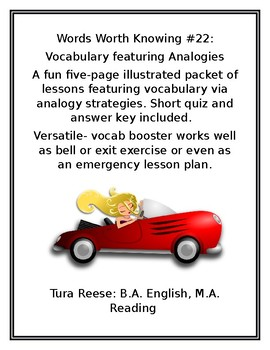 WORDS WORTH KNOWING #22: Vocabulary Featuring Analogies