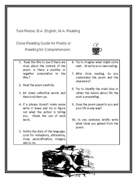 WORDS WORTH KNOWING #18 Guide to Close Reading with Poetry