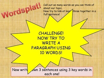 WORDSPLAT! - Get students to use key words and vocabulary in written answers