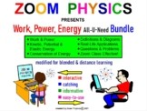 WORK, POWER, KINETIC & POTENTIAL ENERGY, LAW OF CONSERVATION OF ENERGY BUNDLE