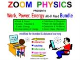 WORK, POWER, KINETIC, POTENTIAL, ELASTIC ENERGY, CONSERVATION OF ENERGY BUNDLE