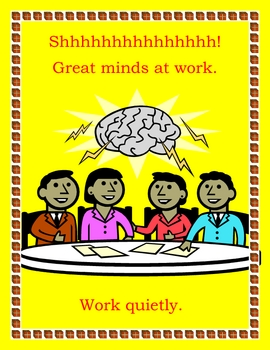 WORK QUIETLY CLASSROOM POSTER