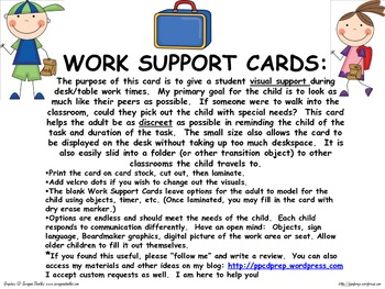 WORK SUPPORT CARDS
