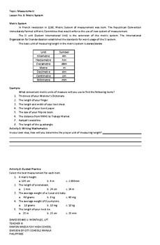 WORKBOOK IN MEASUREMENT PART 1