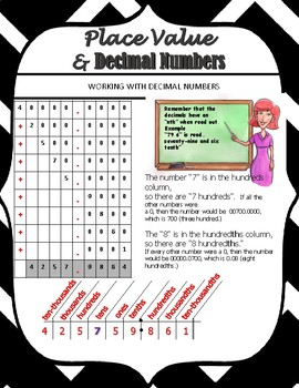 PLACE VALUE AND DECIMAL NUMBERS