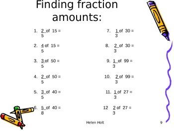 WORKING WITH FRACTIONS - A GOOD OVERVIEW ON USING AND UNDERSTANDING FRACTIONS