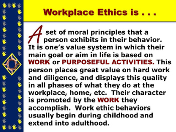 """WORKPLACE ETHICS PowerPoint - """"Develop an EMPLOYABLE Work Ethic PPT"""""""