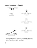 WORKSHEET 2 Connect the three lamps in PARALLEL