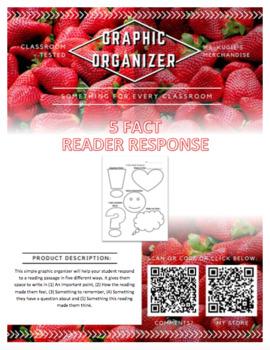 GRAPHIC ORGANIZER - 5 Fact Reader Response