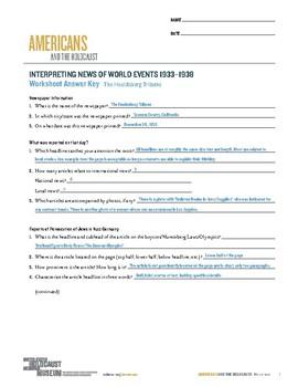 The Holocaust Worksheet Answers - Ivuyteq