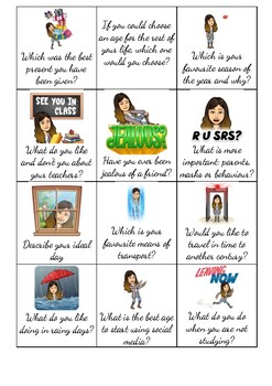 WORKSHEET - Conversation Cards